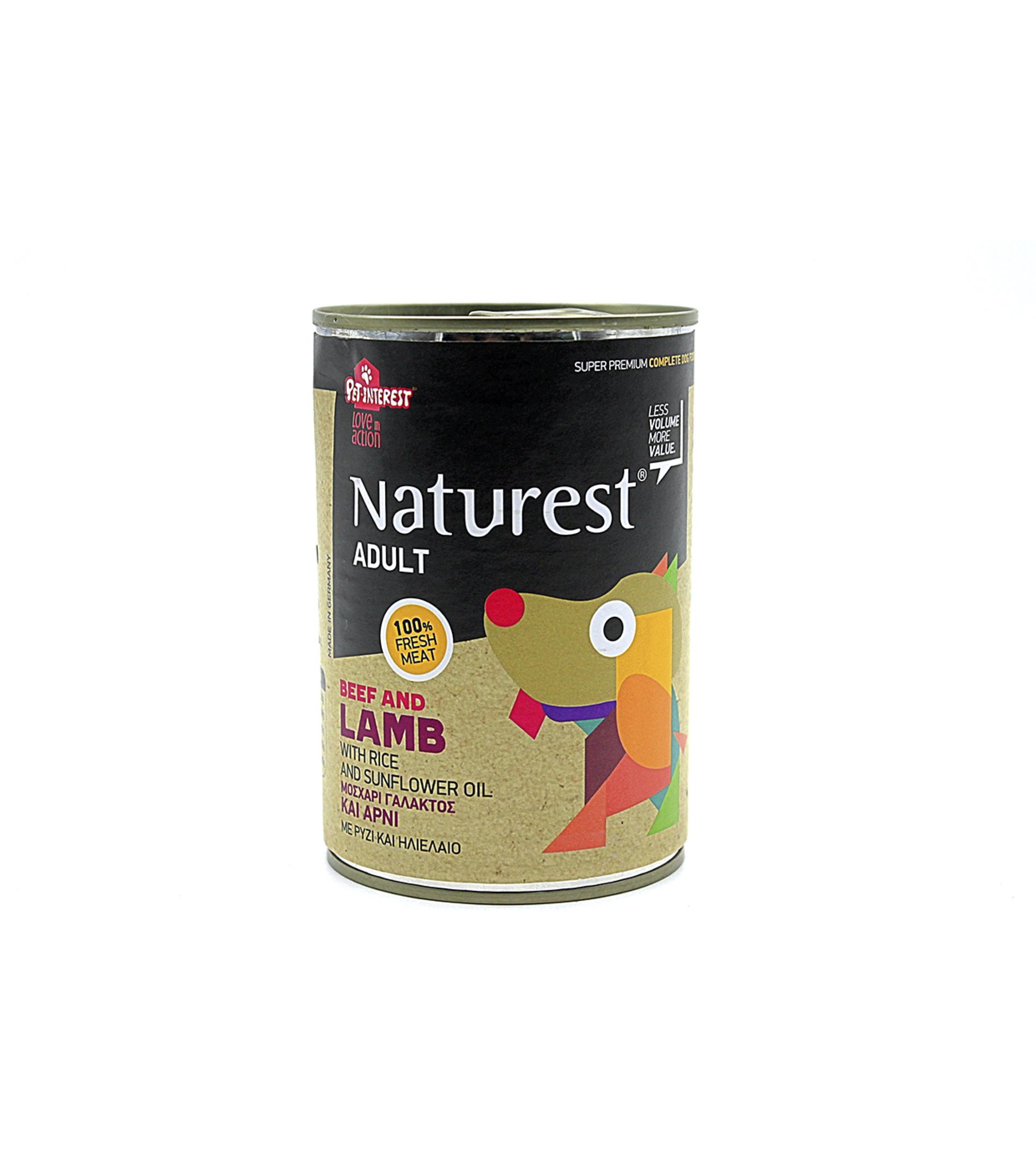 Naturest Wet Food Adultos Cordero Y Buey