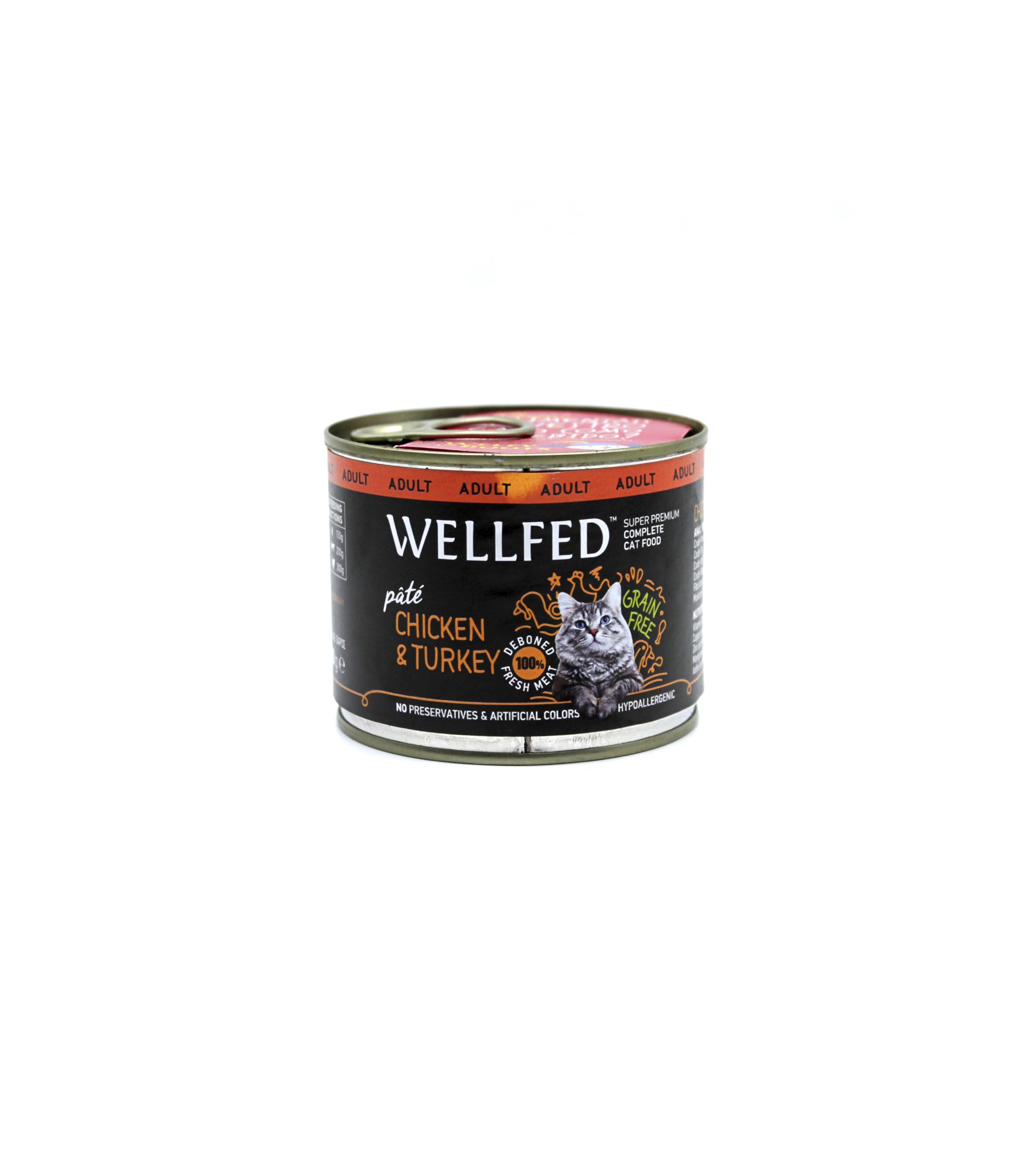 Wellfed Gatos Esterilizados Pollo Y Pavo