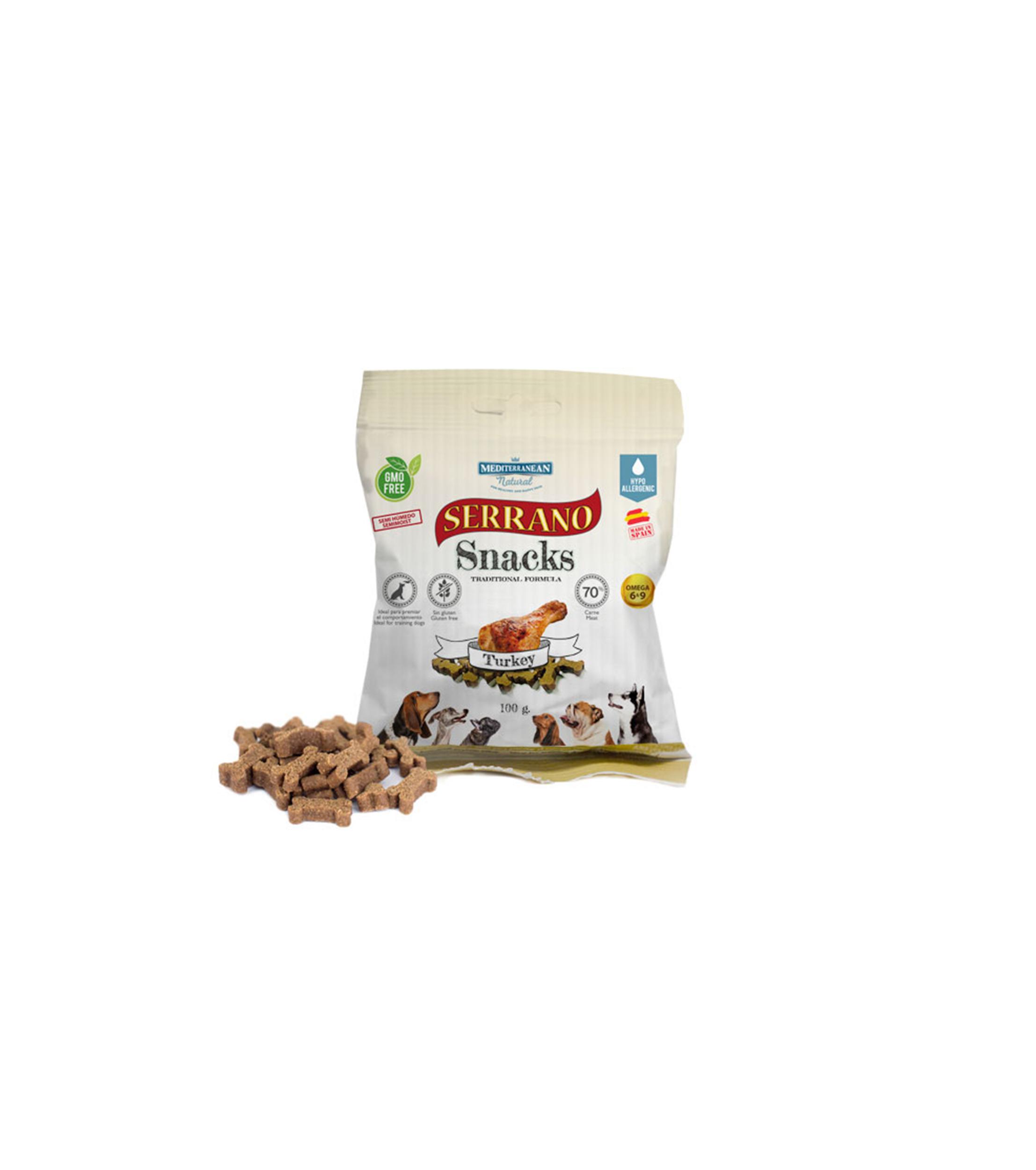 Mediterranean Natural Serrano Snacks Con Pavo