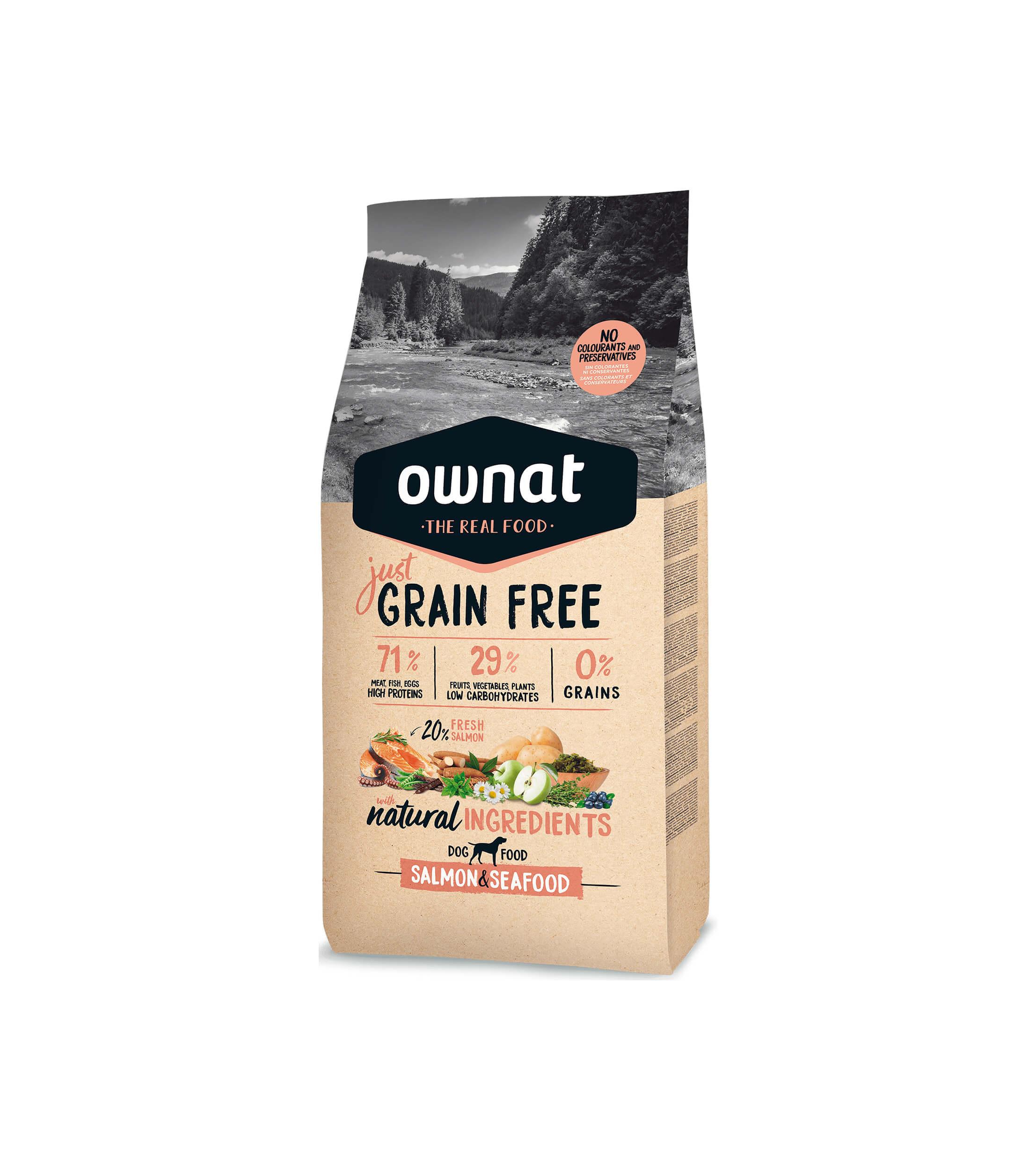 Ownat Grain Free Salmón Y Mariscos